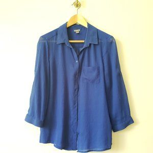 Aerie sheer blue blouse sz. S/P
